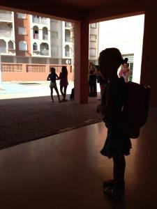 Luna at school