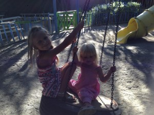 the kids in the swing