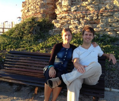 a couple on the bench in Nerja