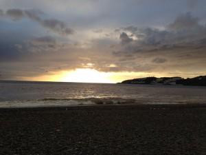 sunset, almunecar