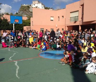 School fiesta, La Noria, Almunecar