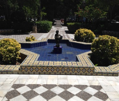 A fountain in Cadiz