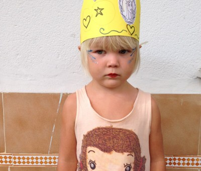 Isla on princess day.