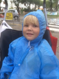 Isla and raincoat