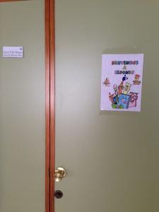Luna's class door